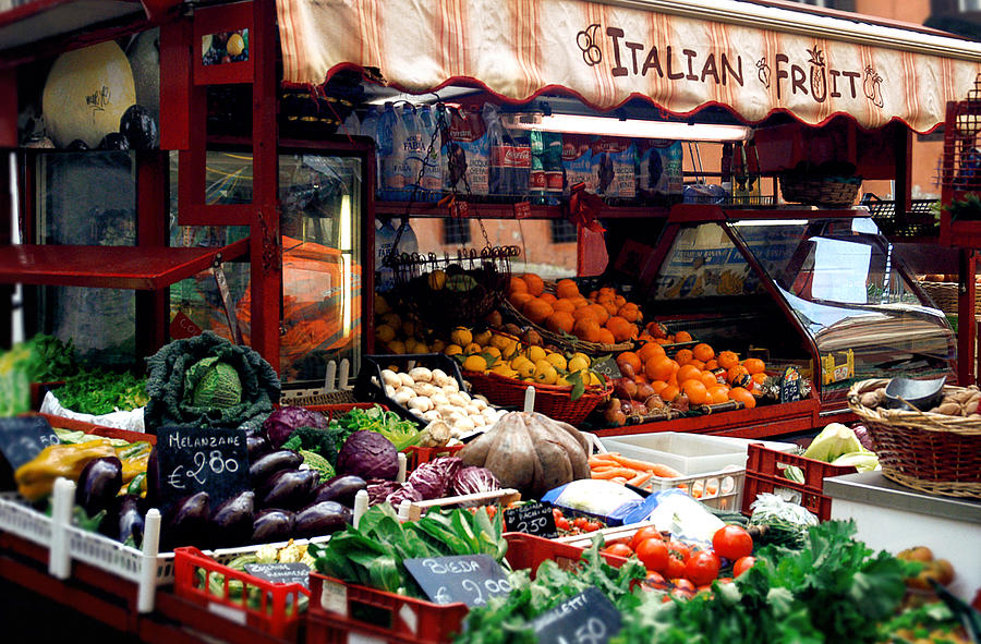 Italian Photograph - Fruit Stand by Warren Home Decor