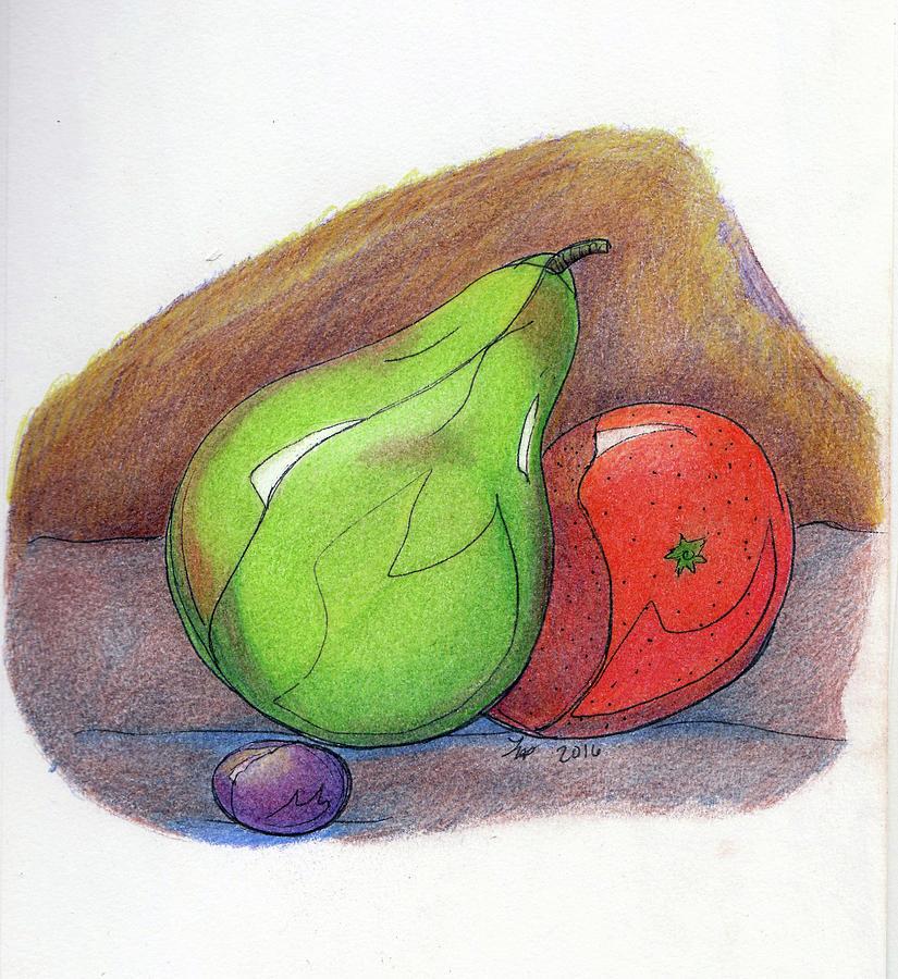 Fruit Painting - Fruit Still 34 by Loretta Nash