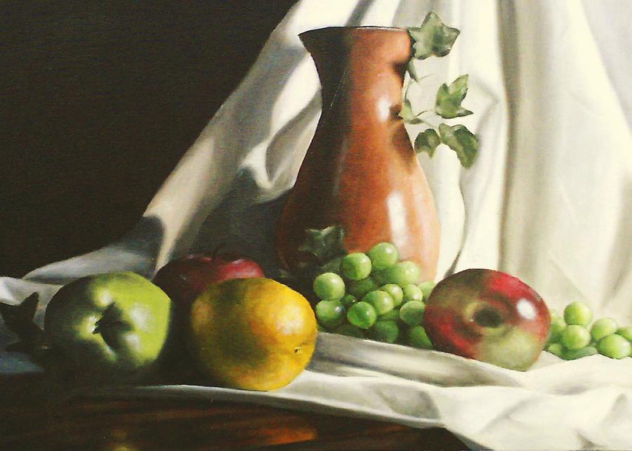 Fruit Still Life Painting - Fruit Still Life by Lori Keilwitz