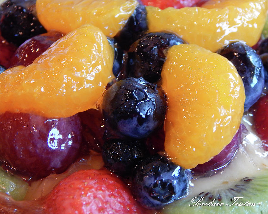 Food Photograph - Fruit Tart #2761 by Barbara Tristan