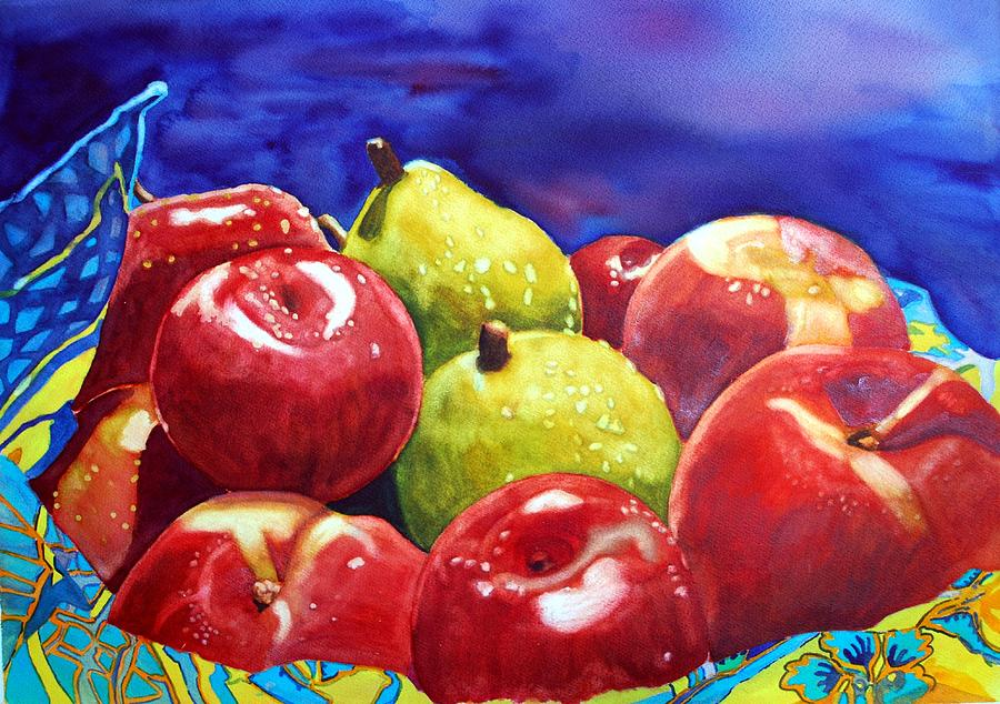 Watercolor Painting - Fruitfully Yours by Gerald Carpenter