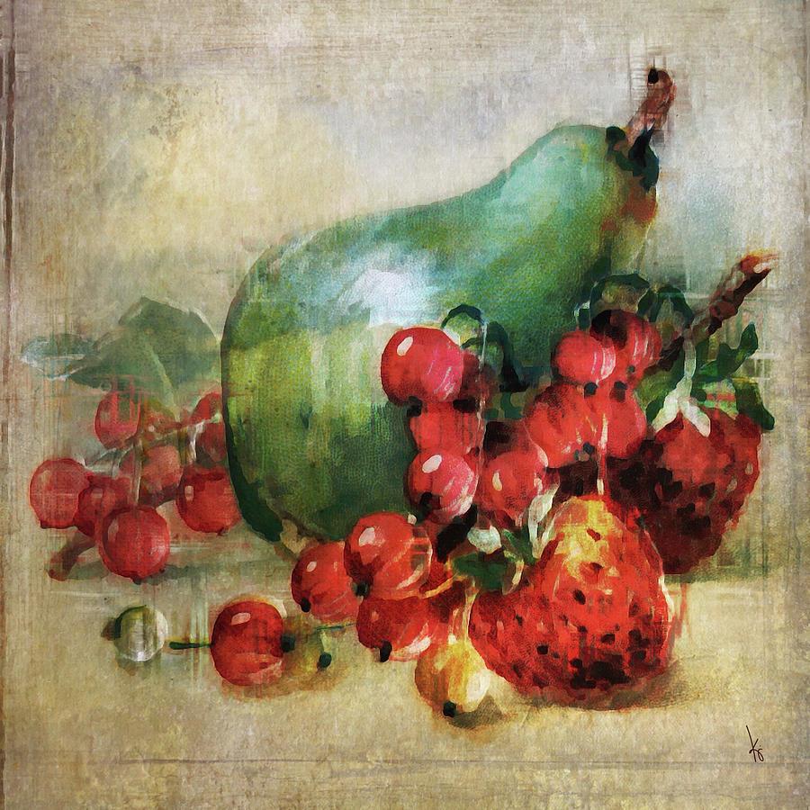 Pear Digital Art - Fruitiful by Krista Droop