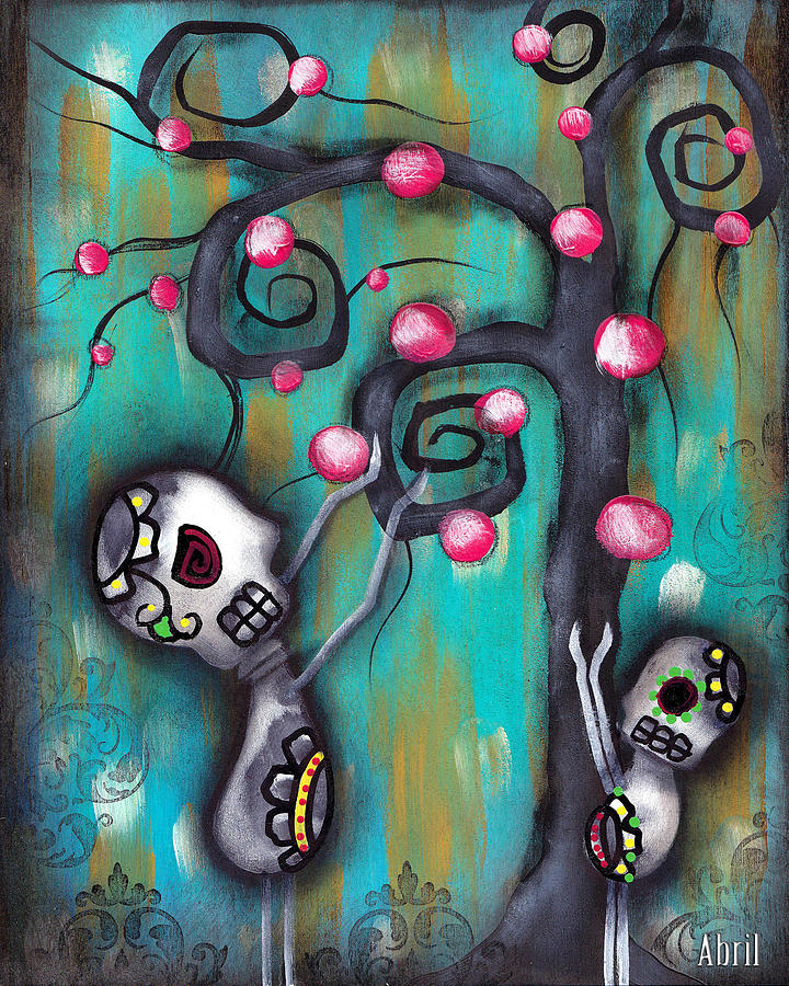Day Of The Dead Painting - Fruits by  Abril Andrade Griffith