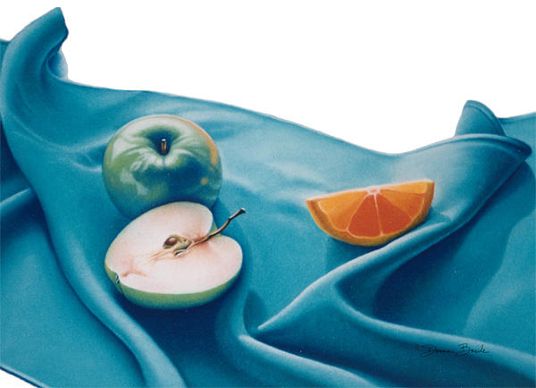 Fruits Drawing - Fruits And Linen by Donna Basile