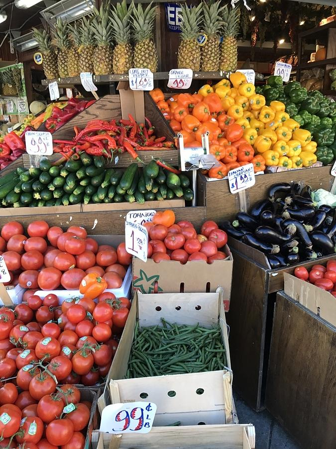 Fruits and Veggie Stand by Liza Beckerman