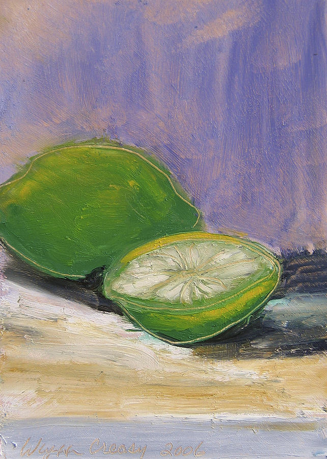 Still Life Painting - Fruits And Veggies No. 01 Lime by Wynn Creasy