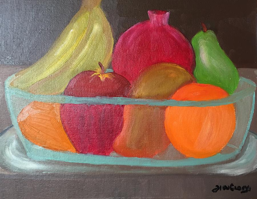 Fruits Painting - Fruits for a leaner longer life by Ramya Sundararajan
