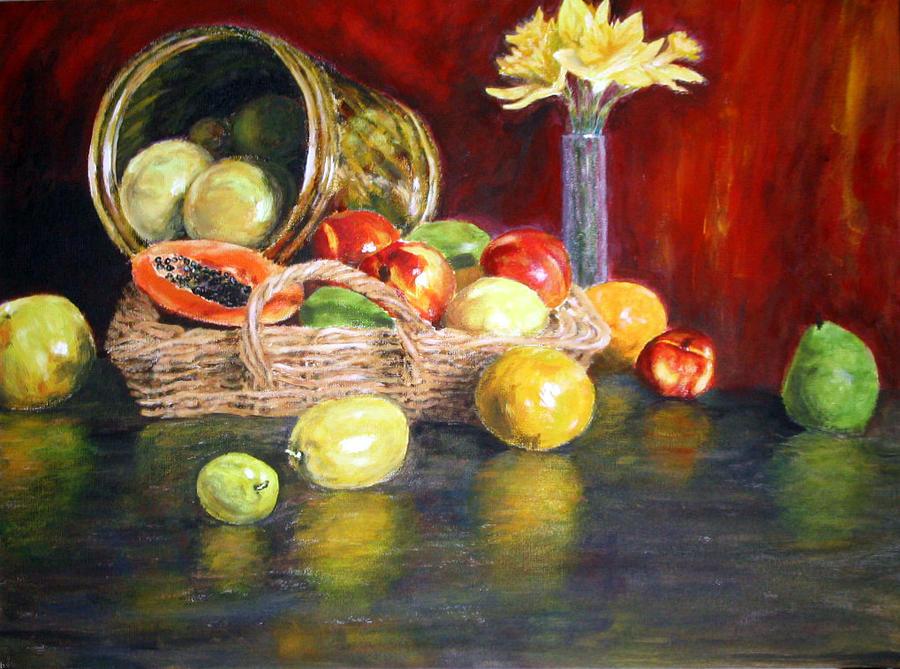 Fruits Painting by Menq Tsai