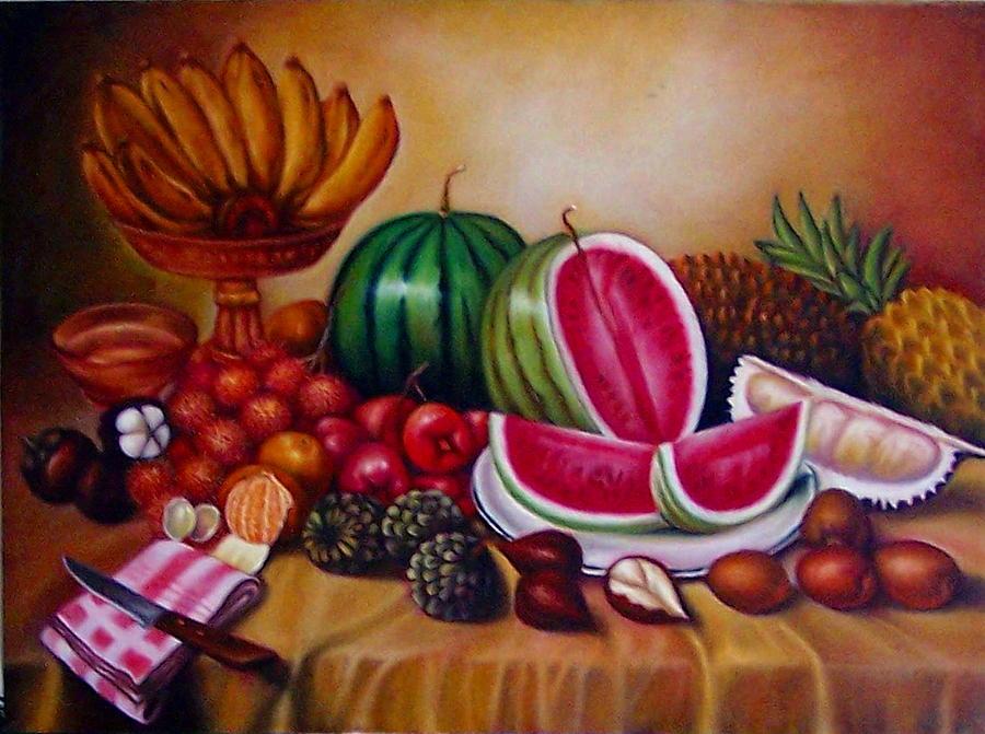 Fruits Painting - Fruits by Yuki Othsuka