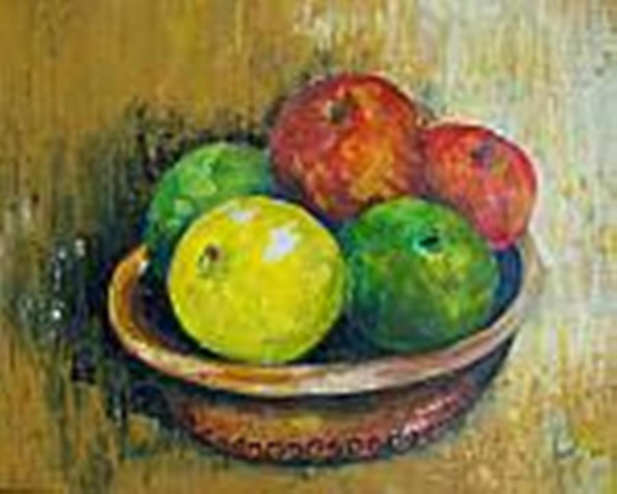 Apples And Oranges Painting - Frutas by Carol P Kingsley