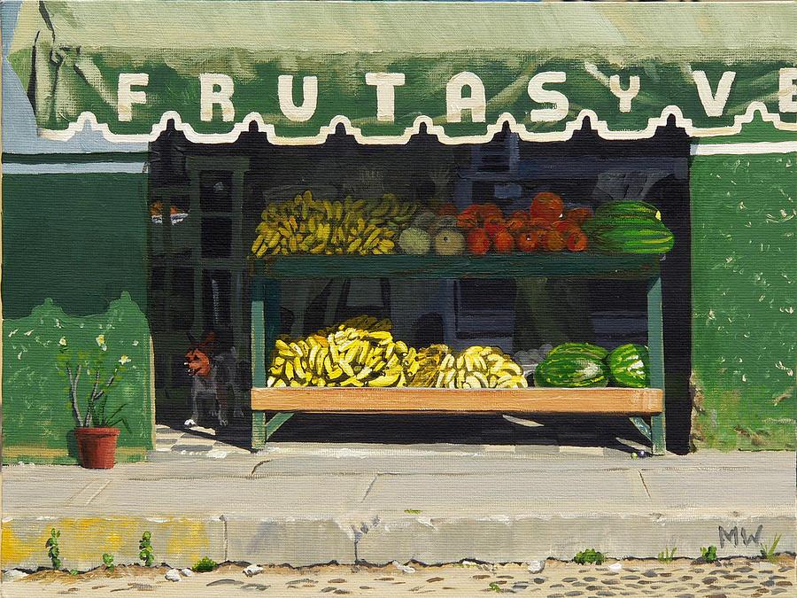 Frutas Y Painting by Michael Ward