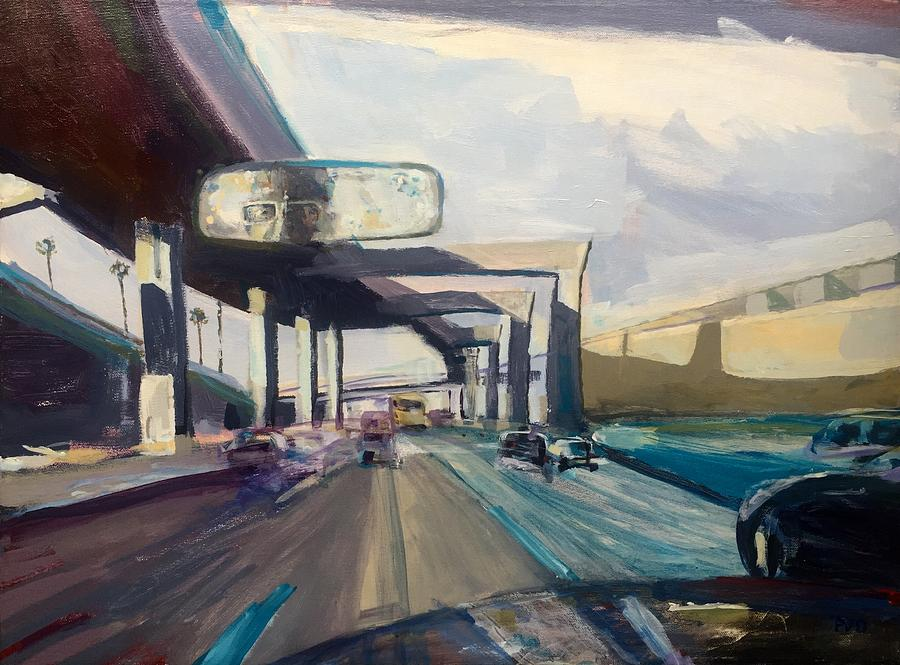 Urban Landscape Painting - Frwy1 by Vaughan Davies