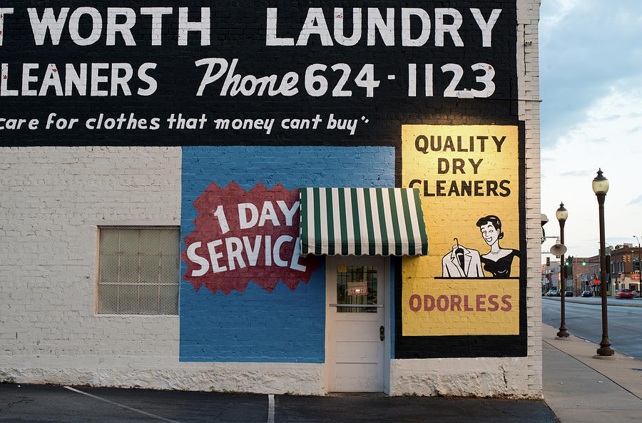 Fort Worth Photograph - Ft Worth Cleaners  1927 81217 by Rospotte Photography