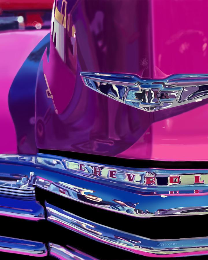 Chevrolet Digital Art - Fuchsia And Chrome by Bob Nolin