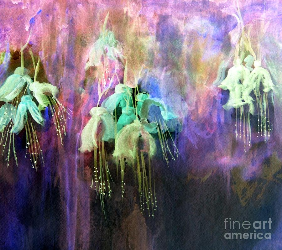 Fuchsia Flowers  by Julie Lueders