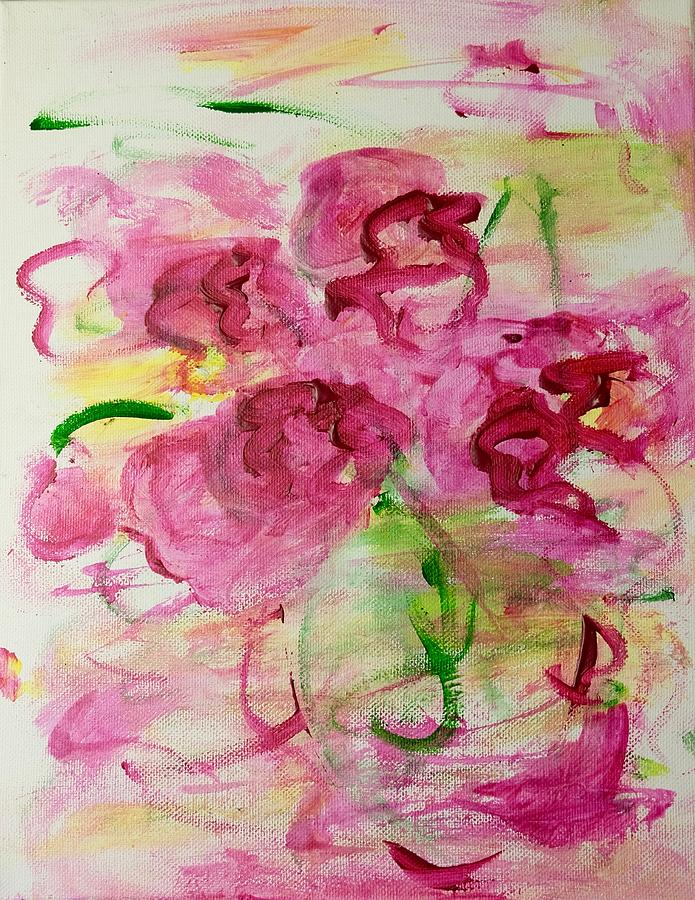 Flowers Painting - Fucia Kisses by Barbara Rose Brooker