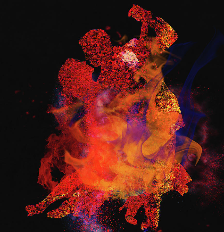Latin Dancers Digital Art - Fuego by M Montoya Alicea