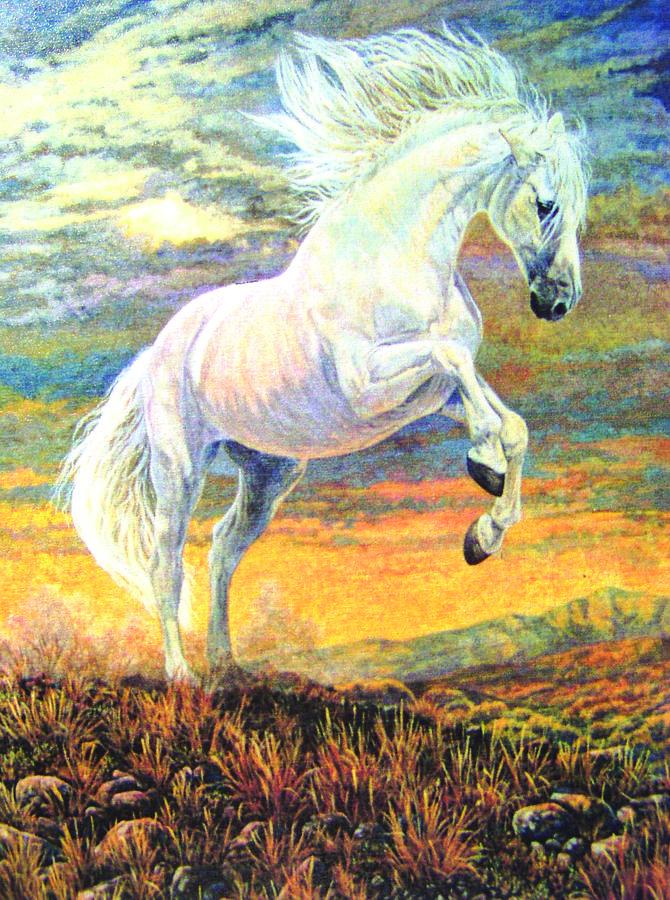 Andalusian Painting - Fuego by Shari Erickson