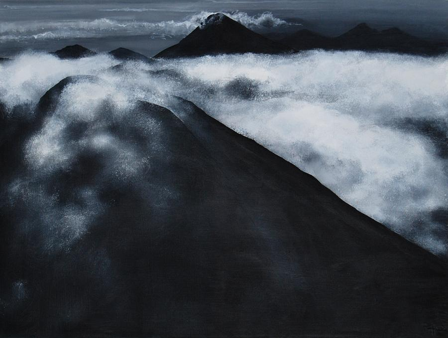 Volcano Painting - Fuego Volcano by Patricia Ann Dees