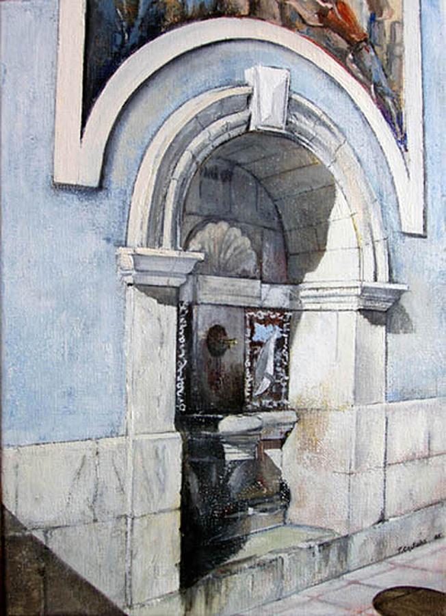 Fuente Painting - Fuente Castro Urdiales by Tomas Castano