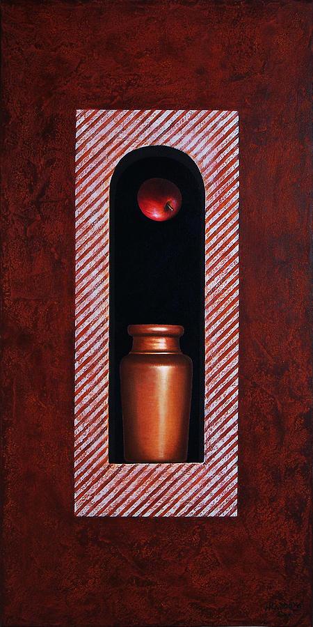 Apple Painting - Fugitive Apple Essence by Horacio Cardozo