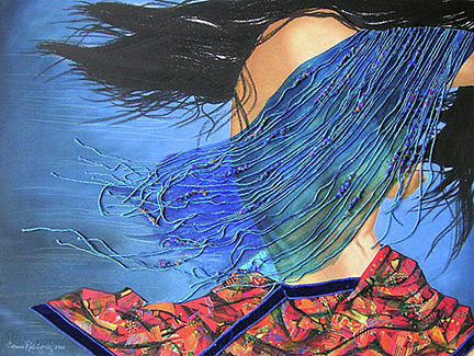 Woman Mixed Media - Fugitive Portrait Of Mother Earth by Carmen R Sonnes
