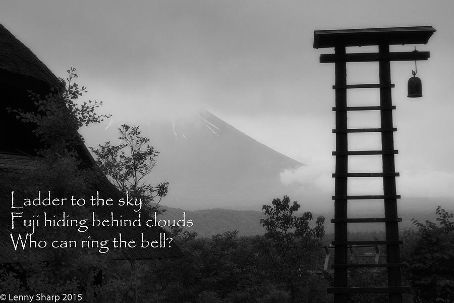 Japan Photograph - Fuji Bell Haiku by Leonard Sharp