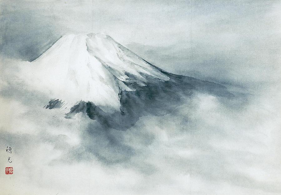 Japanese Painting Painting - Fuji - Fresh Snow by Suiko Sakurai
