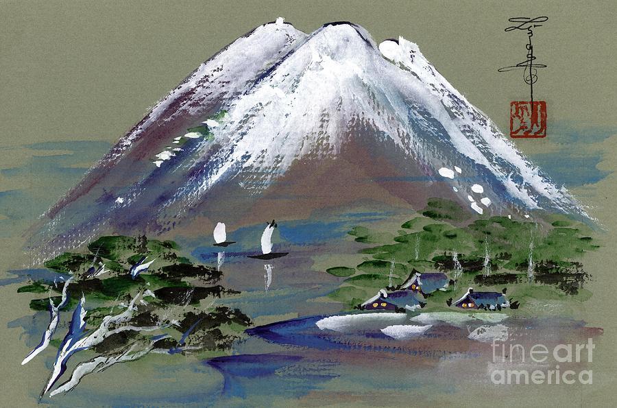 Mountain Painting - Fuji by Linda Smith
