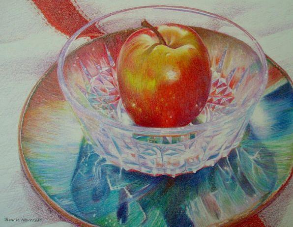 Still Life Painting - Fuji Rainbow by Bonnie Haversat