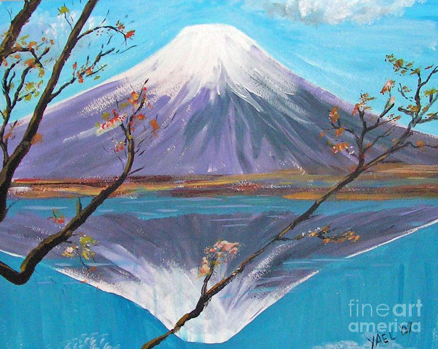 Fuji San Painting By Yael Eylat Tanaka