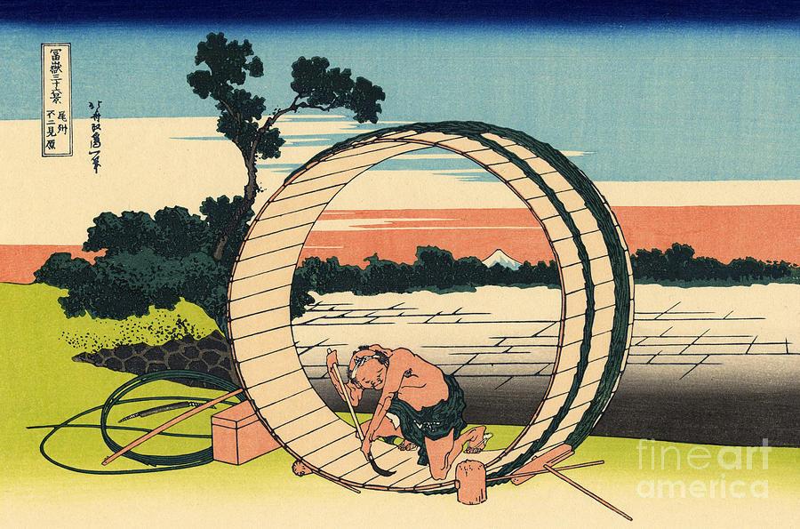 Hokusai Painting - Fuji View Plain In Owari Province by Hokusai