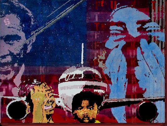 Usa Flag Painting - Fukt by Greg Leonard