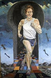 Man Running Painting - Fulfillment by Cindy Pharis