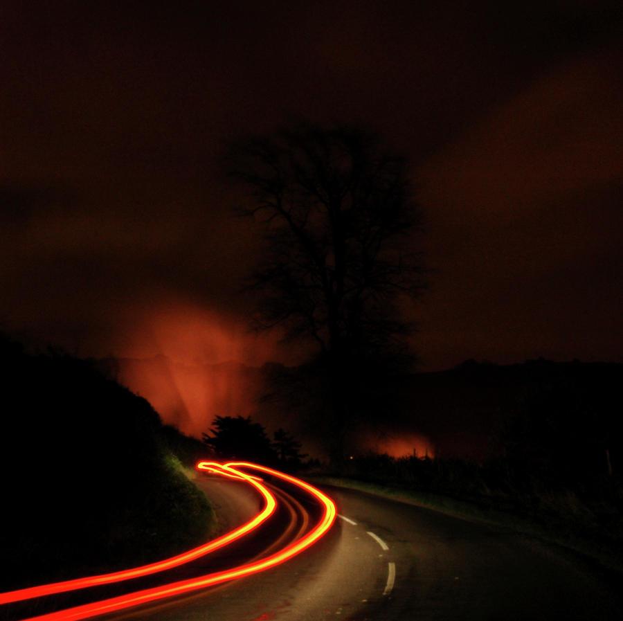 Bonfire Night Photograph - Fulking Bonfire Night by Nigel Chaloner
