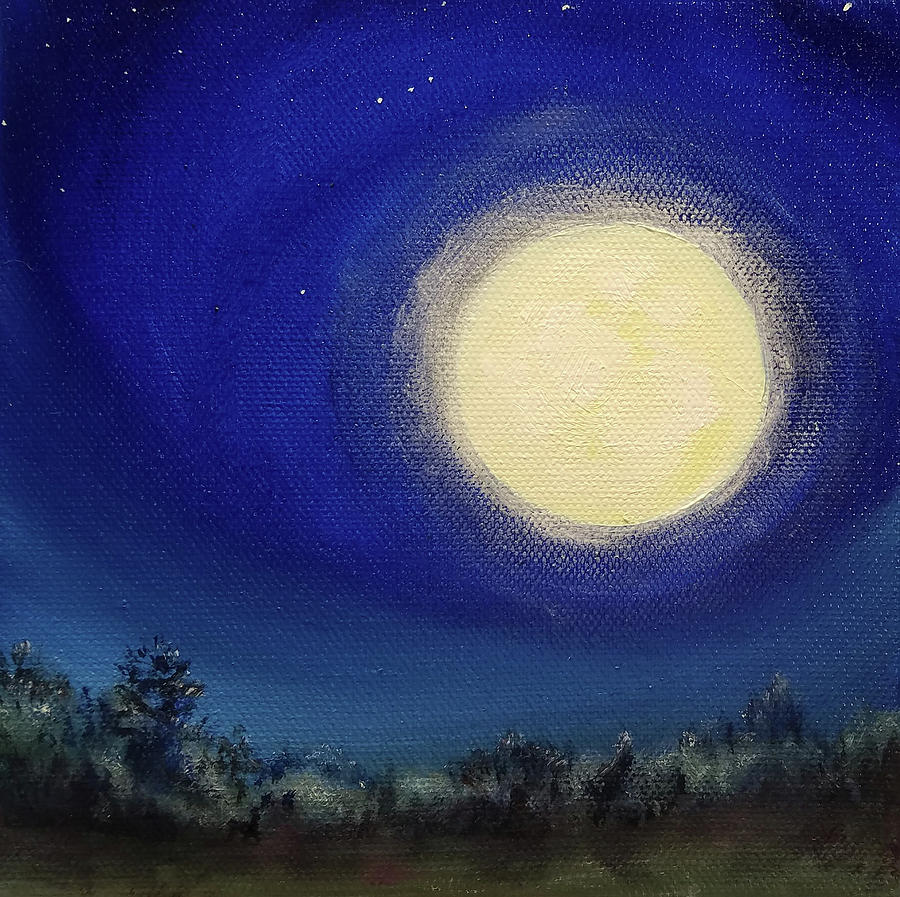 Full Buck Moon by Susan E Hanna