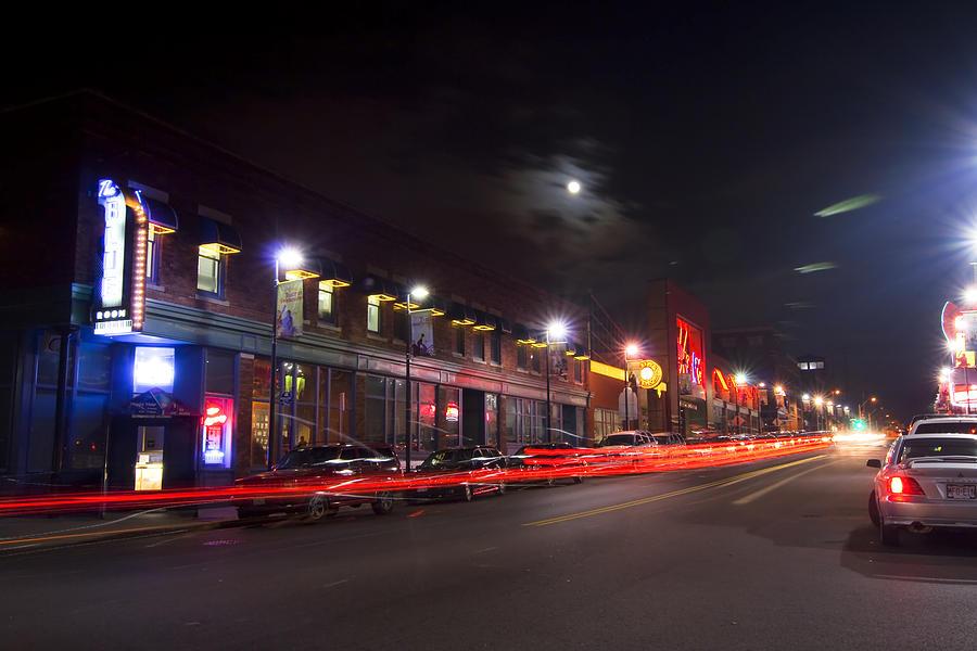 Kansas City Photograph - Full Moon And Night Clubs by Sven Brogren