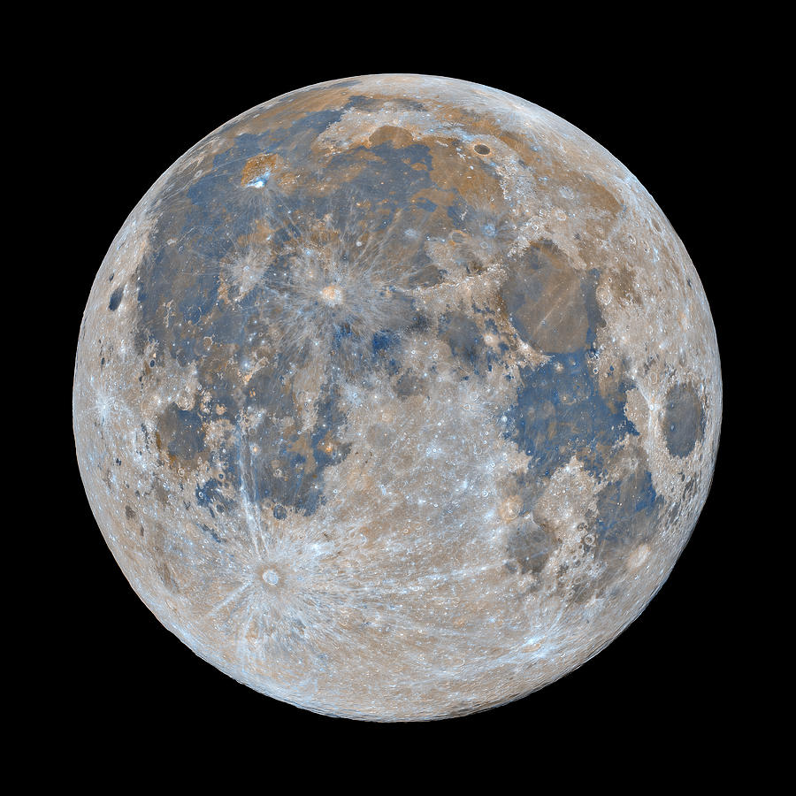 Moon Photograph - Full Moon / Day 15 by Bartosz Wojczynski