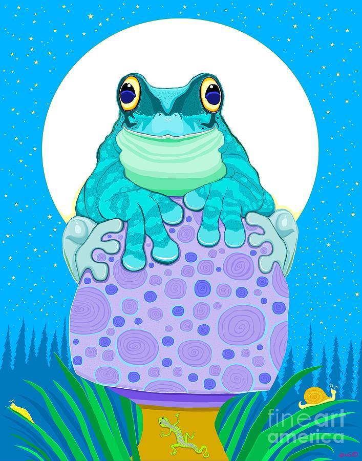 Full Moon Froggy Digital Art