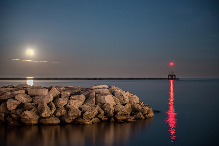Full Moon in Port by James Meyer