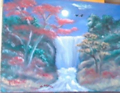 Moon Painting - Full Moon by M bhatt