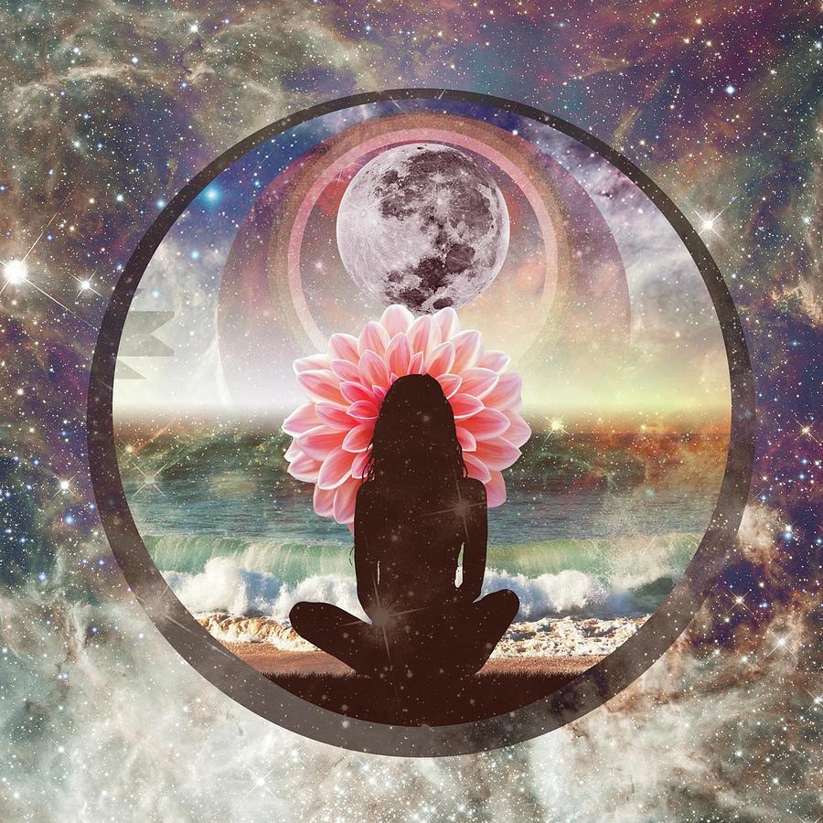Full Moon Meditation Drawing by Lori Menna