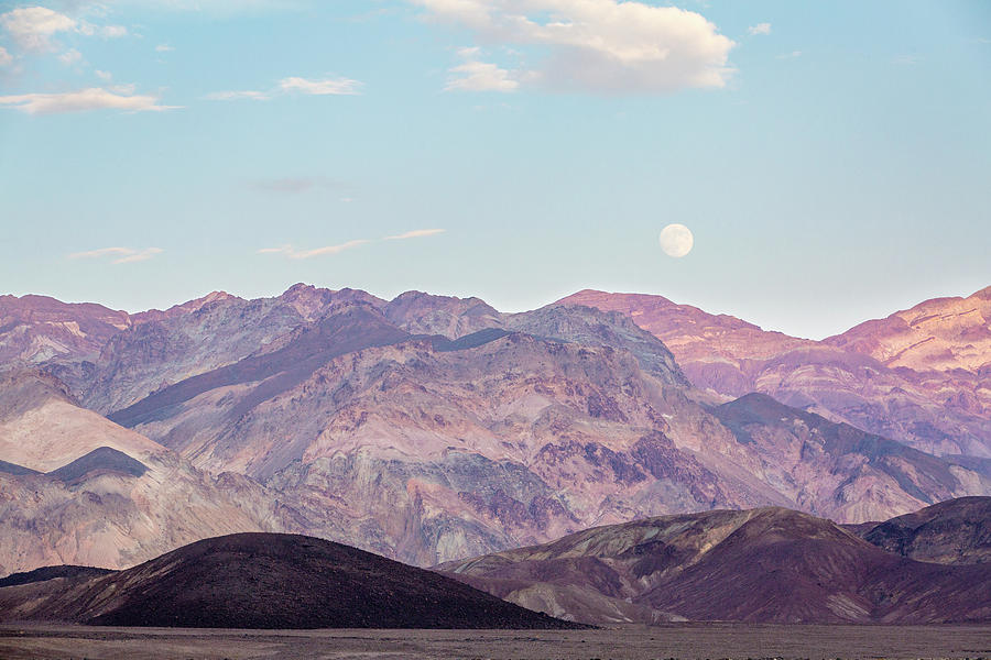 Landscape Photograph - Full Moon over Artists Palette by M C Hood