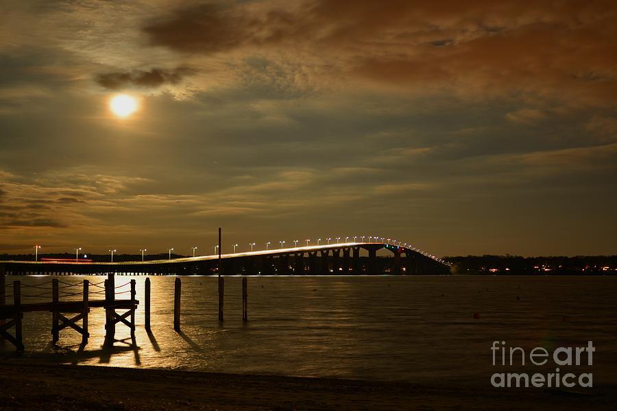 Full Moon over Jamestown by Tammie Miller