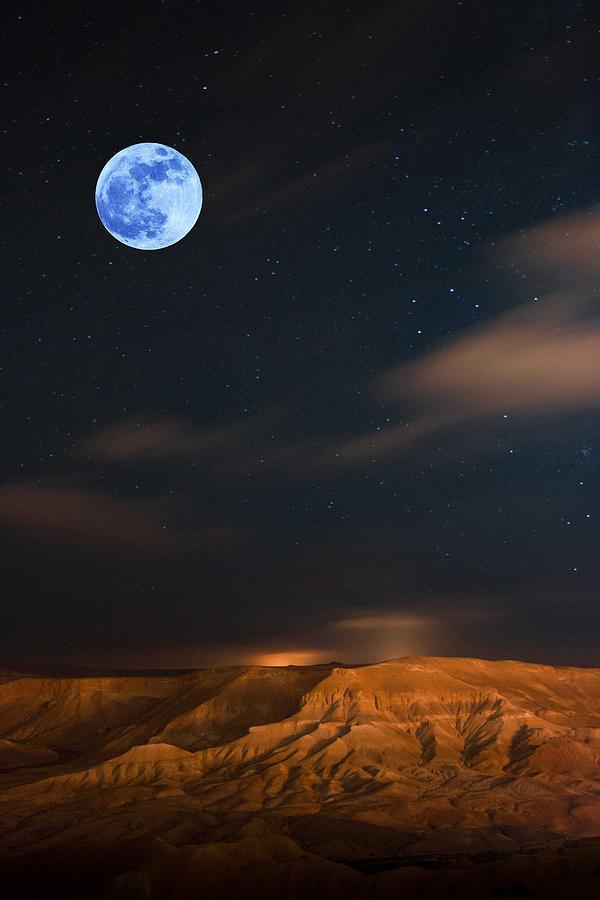 Full Moon Over Kurdistan Plato 1 Painting