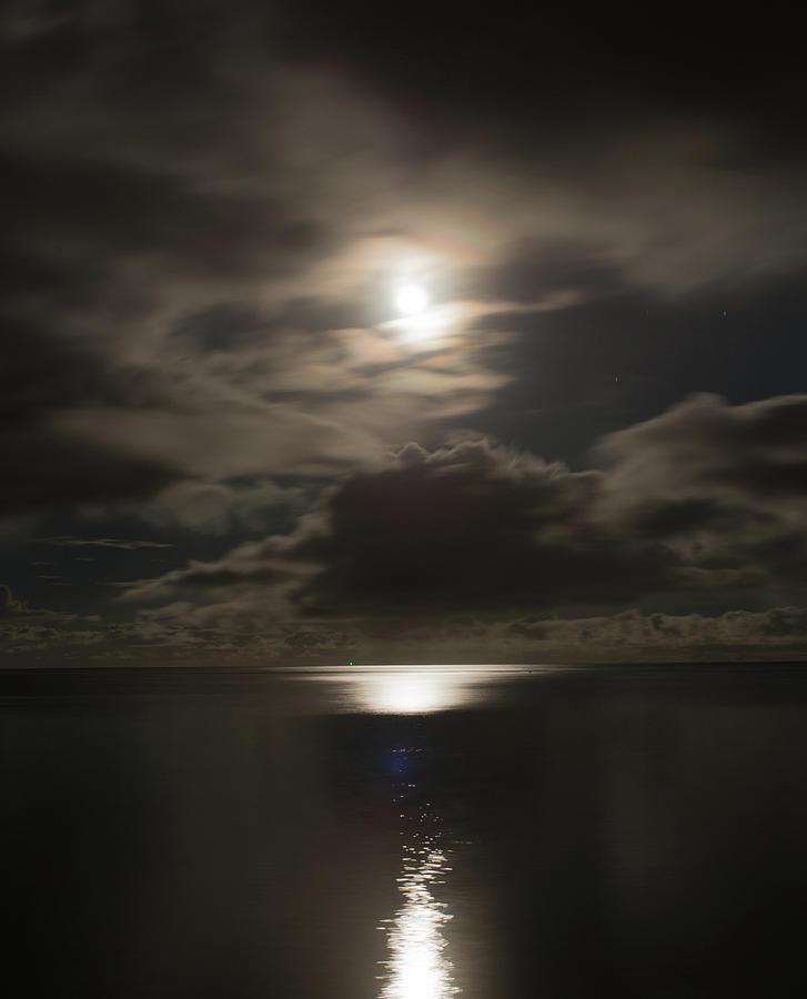 Full Moon over the Ocean by Brenda Smith DVM