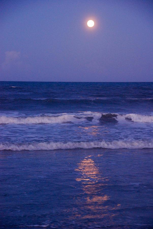 Moon Photograph - Full Moon Over The Ocean by Susanne Van Hulst