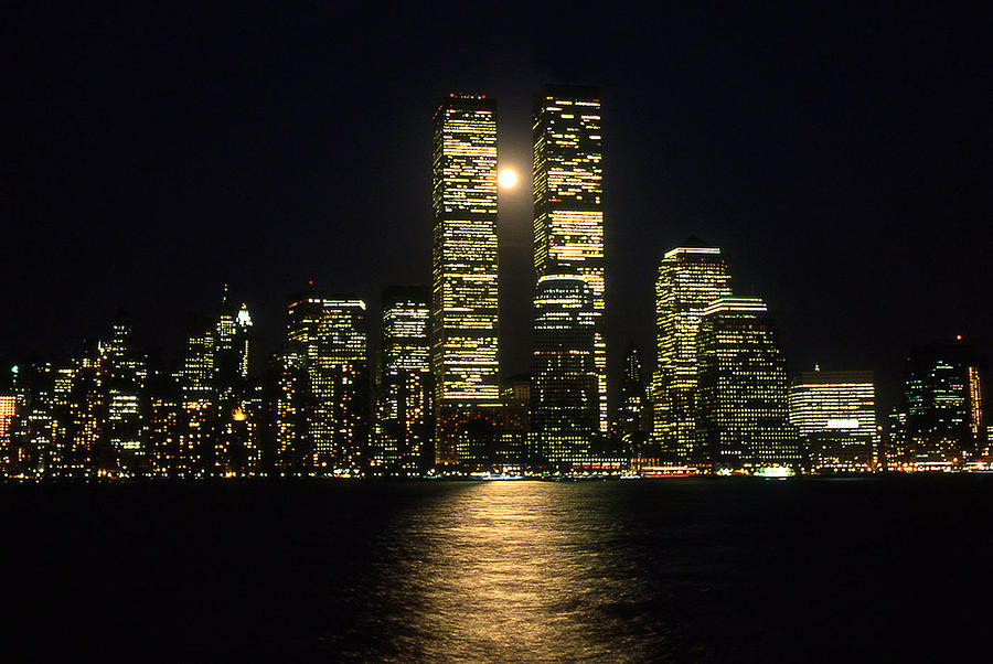 Twin Towers Photograph - Full Moon Over Twin Towers by Ron Eckert