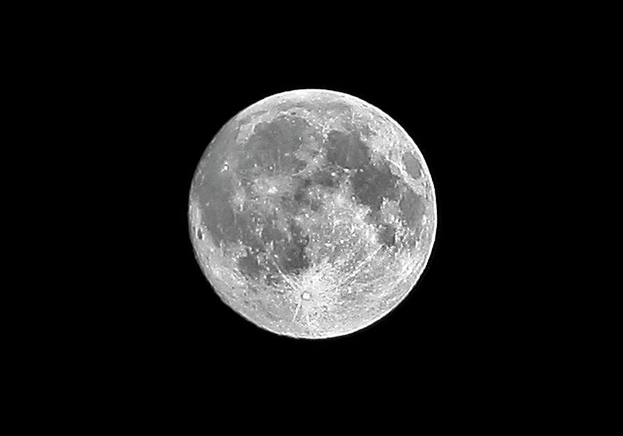 Horizontal Photograph - Full Moon by Richard Newstead