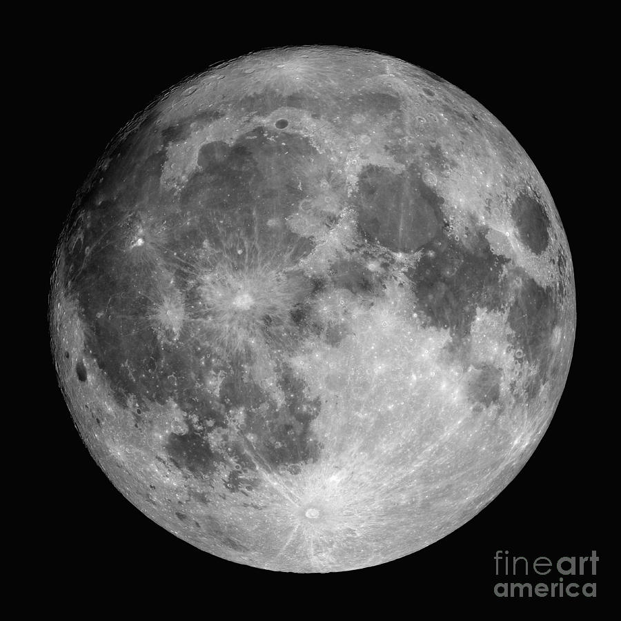 Crater Photograph - Full Moon by Roth Ritter